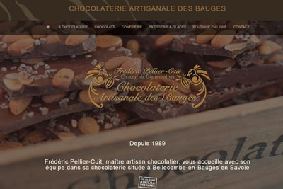 Site web de la Chocolaterie des Bauges