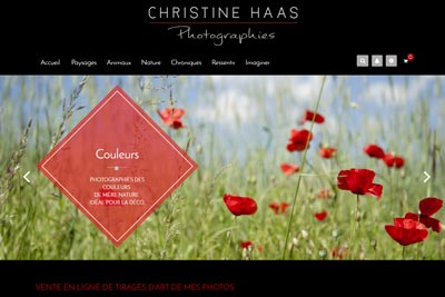 Boutique en ligne Christine Haas Photographe